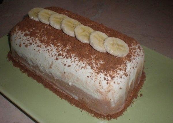 творожно банановый десерт фото