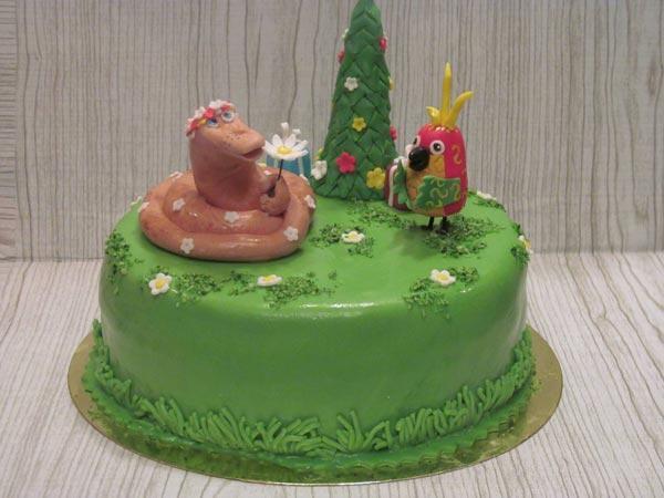 Торт Елочка с мастикой