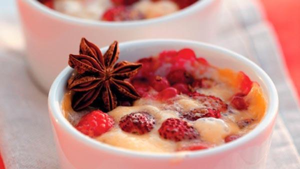 Малиновый гратен - легкие горячие десерты на вашем столе
