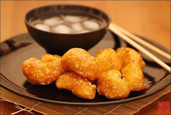 Китайские десерты - фрукты в карамеле