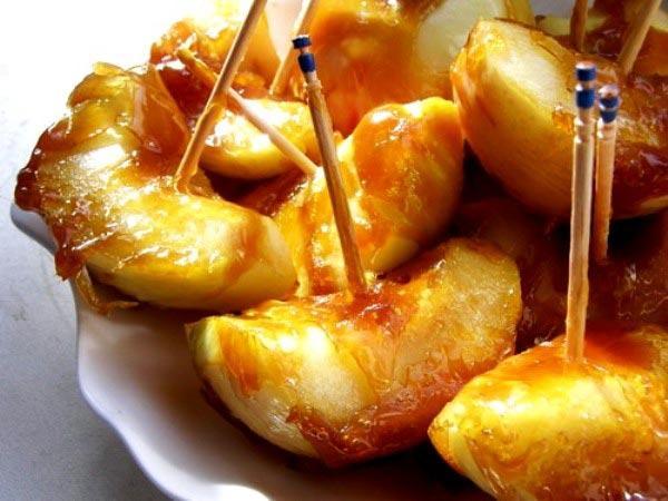 Пекинские яблоки - китайский десерт из яблок в карамеле