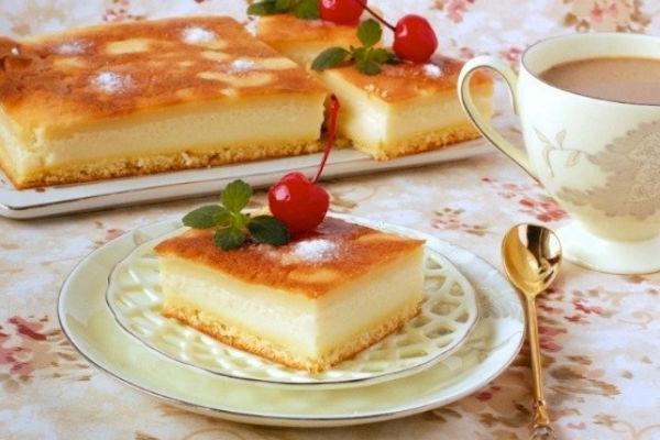 Умное пирожное с фруктами