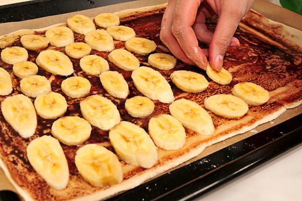 Воздушный пирог с бананами