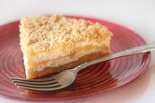 Творожный пирог с банановой прослойкой