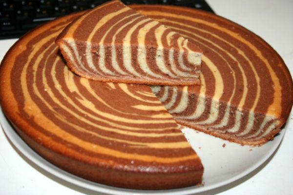 Творожно-шоколадная зебра