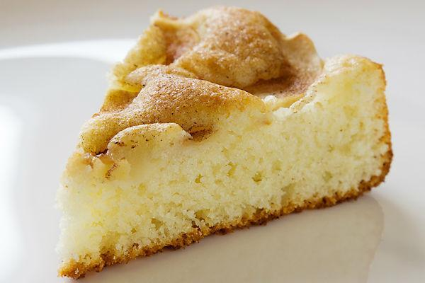 Пирог яблочно-творожный