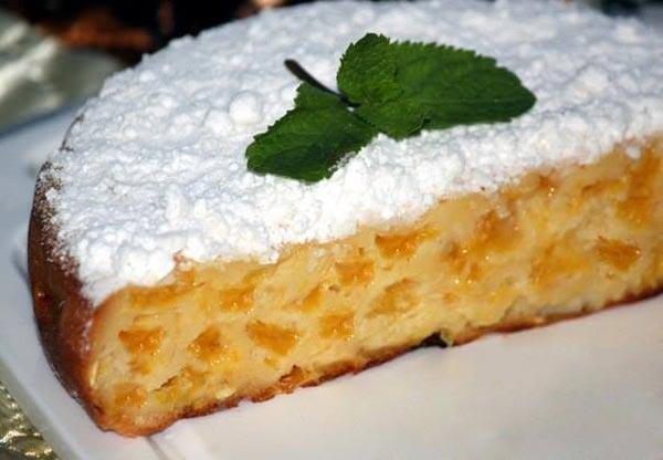 Пирог с дольками апельсинов - рецепт для мультиварки.