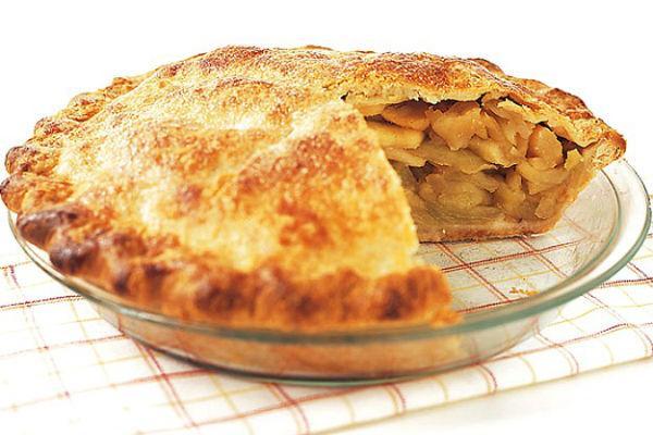 Нежный пирог с бананами и яблоками