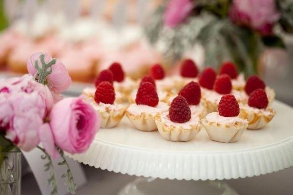 Пироженные с малиной в качестве десертов на День рождения