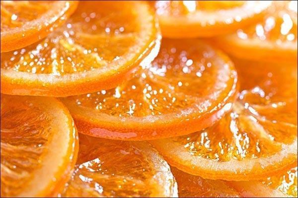 Апельсины в карамеле с рикоттой и орехами