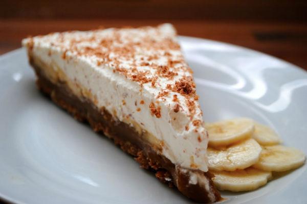 Кусочек нежного бананового торта