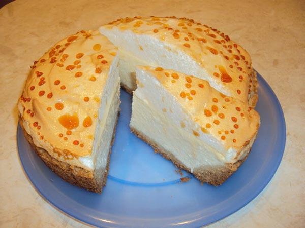Десерт из творога в мультиварке - нежный торт с творогом!