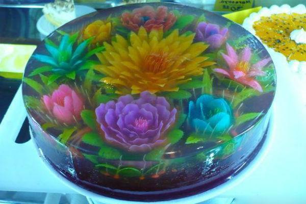 Цветы в желе 2
