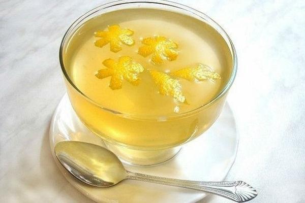 Рецепт лимонного желе