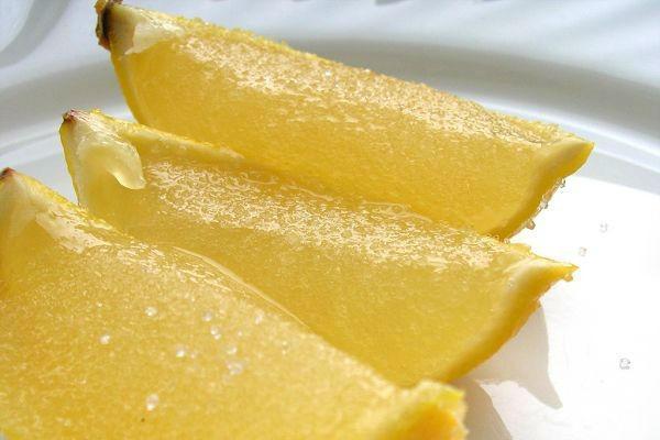 Желе с лимоном в виде варенья