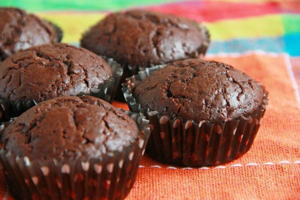 Домашние маффины с какао