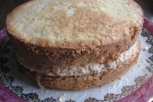 Приготовление торта иней