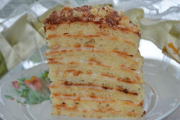 Торт Наполеон на сковородке 4