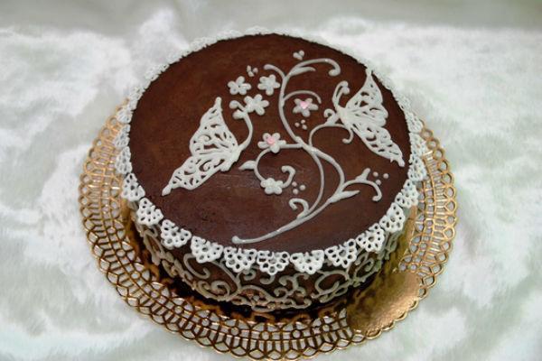 Украшение торта шоколадом 3