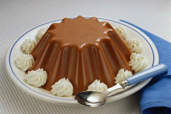 Шоколадное желе со сливками