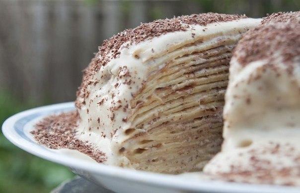 Блинный торт со сметаной 3
