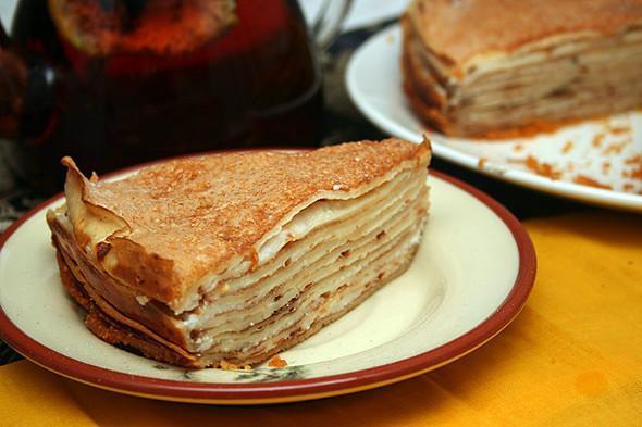 Блинный торт со сметаной 2