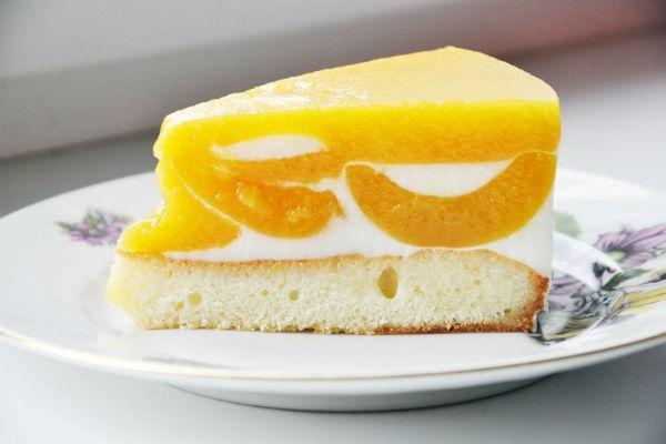 Йогуртовый торт с апельсинами