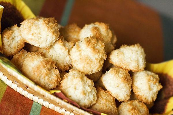 кокосовое печенье из кокосовой стружки рецепт с фото
