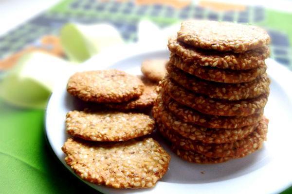 Кунжутное печенье 4