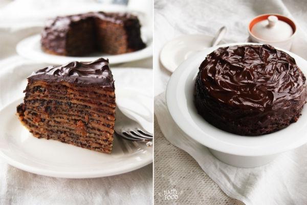Шоколадный блинный торт 3