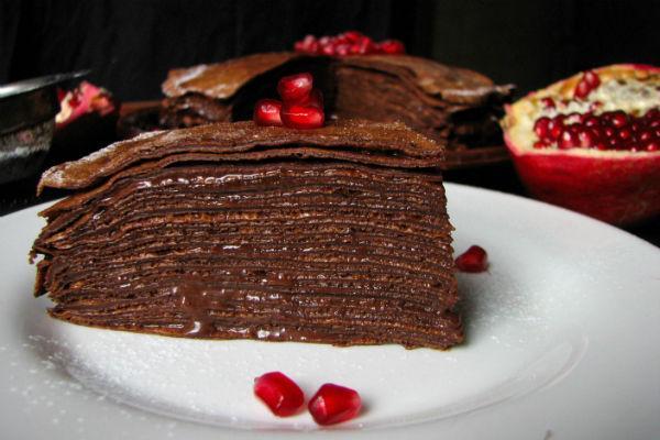 Шоколадный блинный торт 2