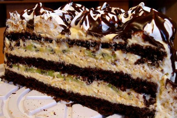 Торт Черный принц со сгущенкой 3