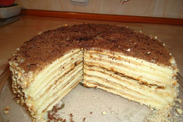 торт на сковороде со сгущенкой минутка