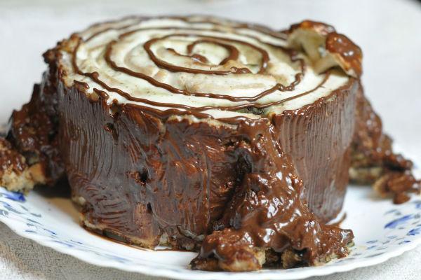 Торт «Трухлявый пень» 1