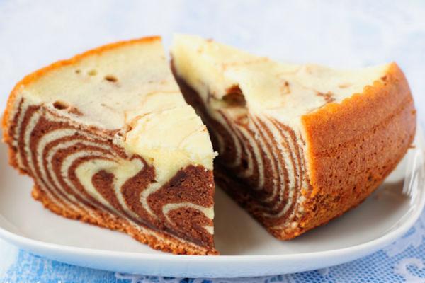 Торт Зебра на кефире 3