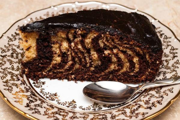 Торт Зебра на кефире 2