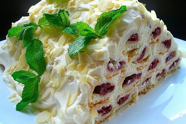 Торт Изба с вишней 4