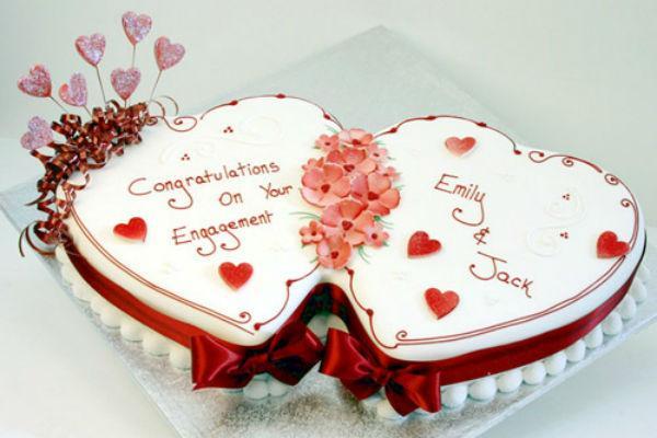 Торт в виде сердца 3