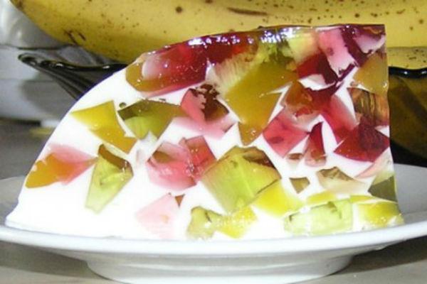Как сделать фруктовое желе со сметаной