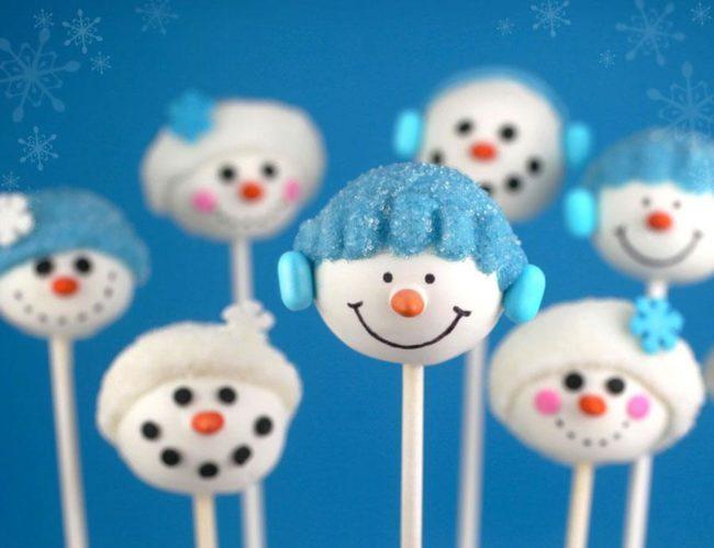 Идеи круглых кексиков на новый год.