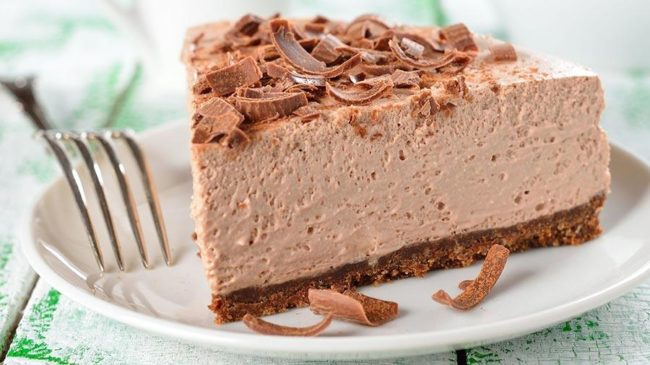 Отличный муссовый торт, которому не требуется выпечка.