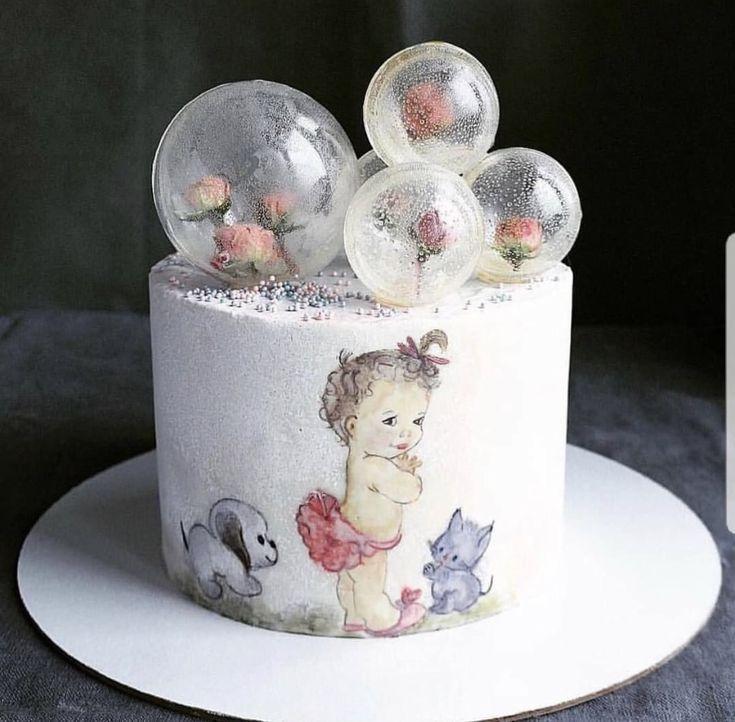 Идеи декора из изомальта для торта - шары-оболочки - фото