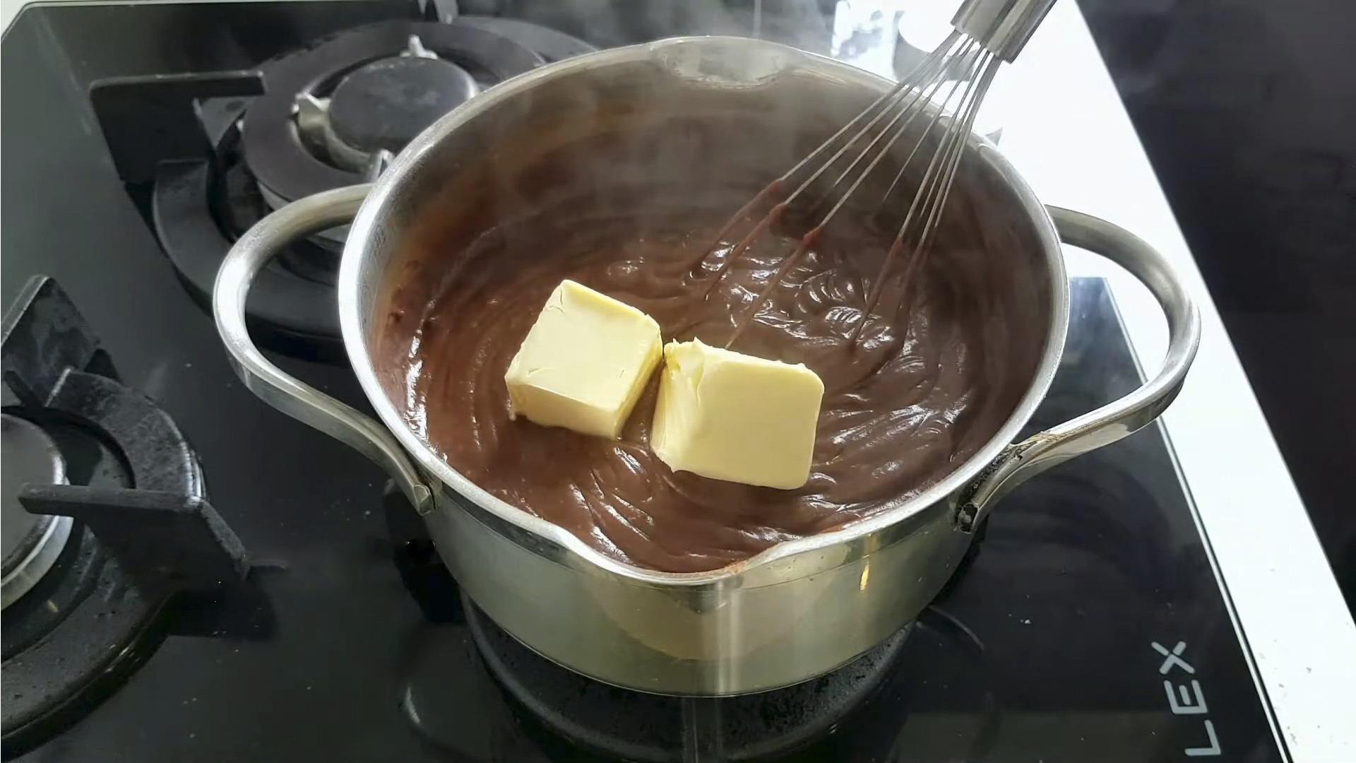 Рецепт - Шоколадный крем для эклеров - шаг  7