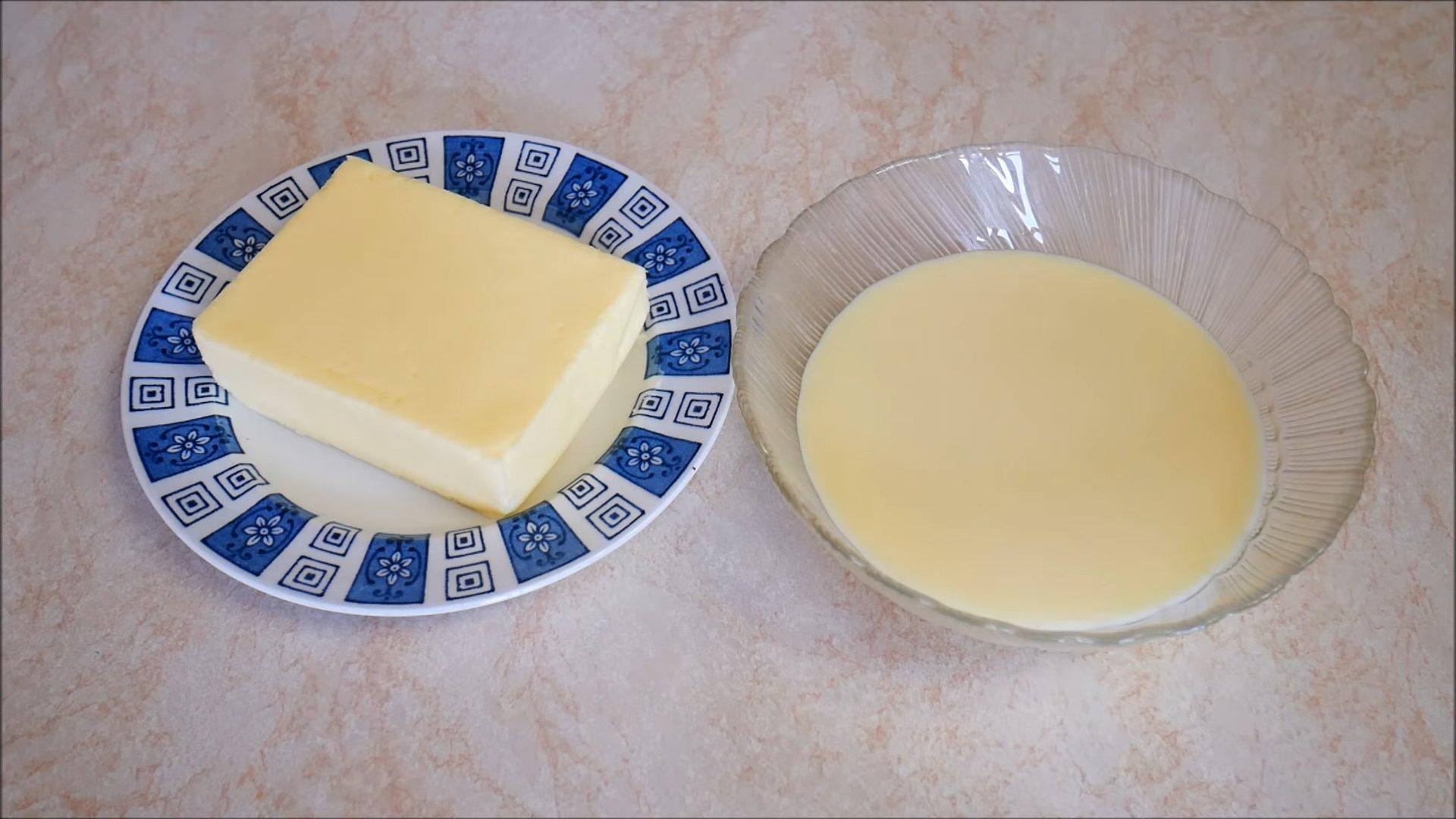 Рецепт - Крем со сгущенкой и сливочным маслом для «Наполеона» - шаг 1
