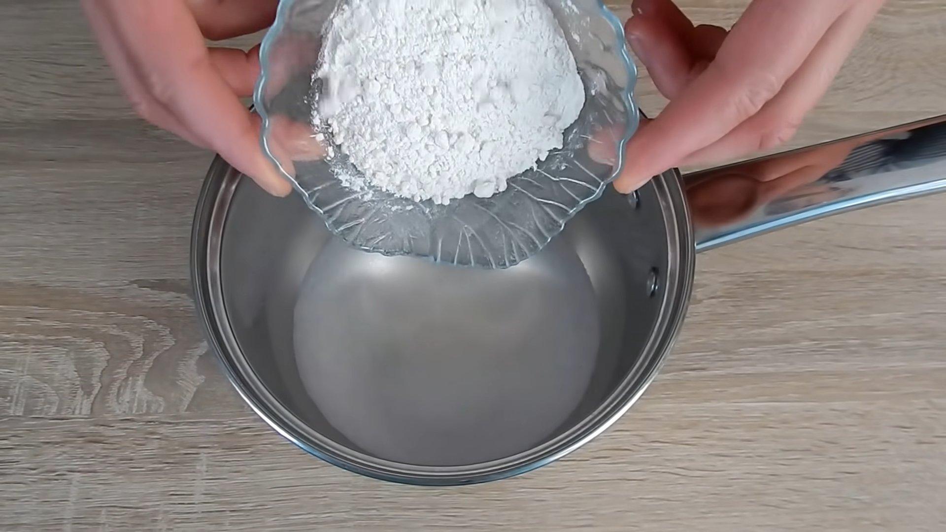 Рецепт - заварной крем для «Медовика» - шаг 1