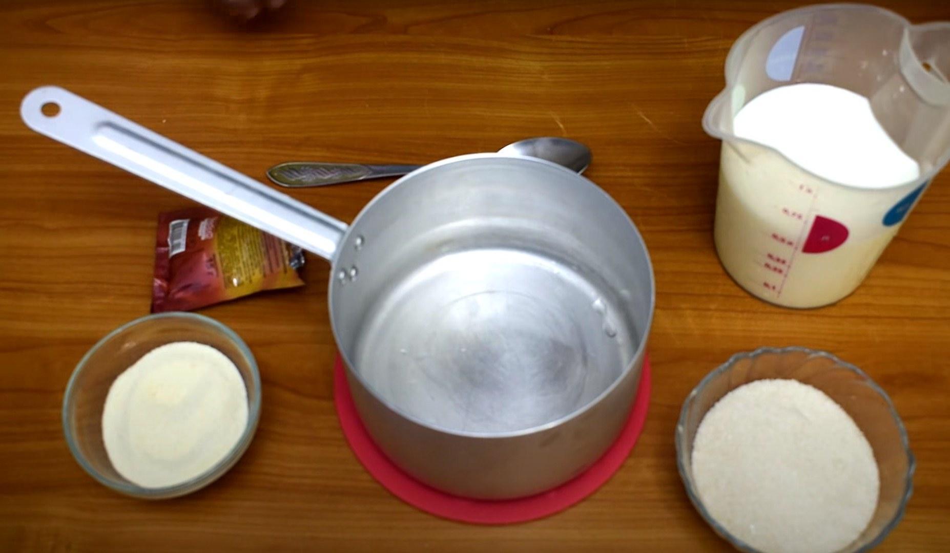 Рецепт - Крем с манкой для медовых коржей - шаг 1