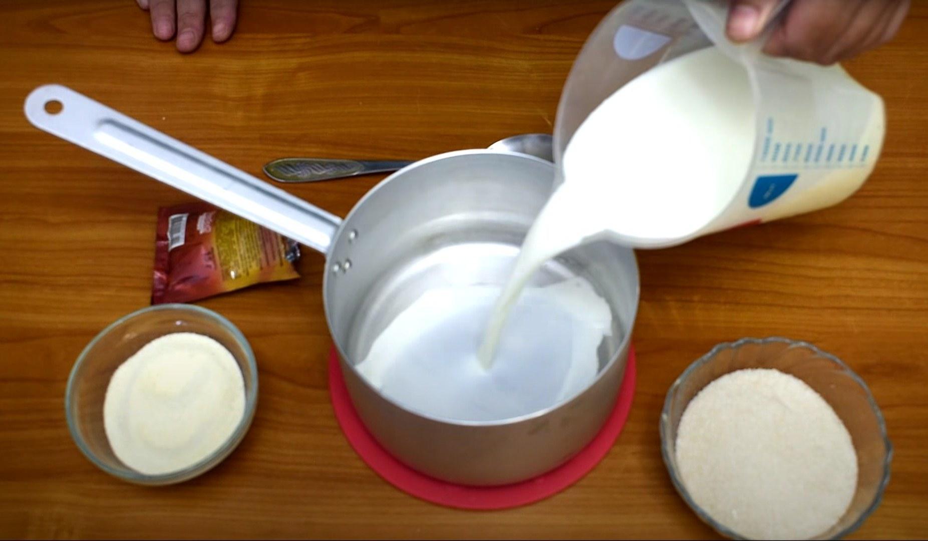 Рецепт - Крем с манкой для медовых коржей - шаг 2